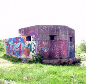 World War II Pillbox with Grafitti