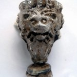 Late 16th/early 17th century 'Facon de Venise' wine glass with a lion mask moulded stem, found during this year's training dig.
