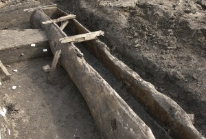 Wooden Salt ship from waterlogged deposits in Nantwich